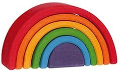 """Grimm's Small (Mini) Rainbow Nesting Wooden Blocks Stacker, """"Elements"""" of Nature: AIR Grimm's Spiel and Holz Design Christmas Presents For Kids, Christmas Baby, Montessori Toddler, Toddler Toys, Baby Toys, Grimms Rainbow, Chocolate Turtles, Wooden Rainbow, Stacking Toys"""