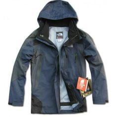 North Face Darkblue Gore Tex Jacket Mens BJ130161