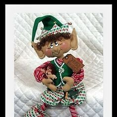 Primitive MAILED sitting ELF DooLeYSiTTiNg | Etsy Elf Me, The Elf, Christmas Elf Doll, Christmas Ideas, Sell On Etsy, Pattern Paper, Little Gifts, Sewing Crafts, Primitive