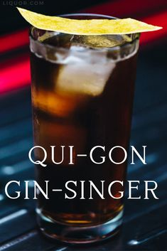 This cold brew and gin cocktail is for the ultimate Jedi Junkie! The Qui-Gon Gin-Singer is bitter and herbal and sure to give you an extra dose of the force to get through the day. Winter Cocktails, Christmas Cocktails, Easy Cocktails, Gin Drink Recipes, Cocktail Recipes, Hot Buttered Rum, Slimming Recipes, Mint Tea, Exotic Food