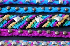 DIY Basic: Studded Tulle Friendship Bracelets