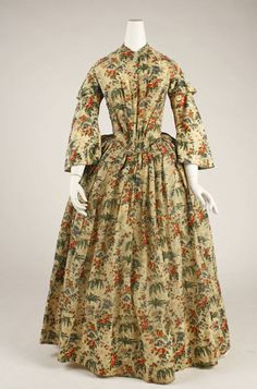 Morning dress ca. 1844 via The Costume Institute of the Metropolitan Museum of Art
