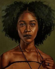 Black Art Painting, Black Artwork, Woman Painting, Black Love Art, Black Girl Art, Art Girl, Black Girl Aesthetic, Aesthetic Art, African American Art