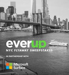 Enter to win a @Microsoft Surface Book + a trip to NYC for EverupIRL, a meeting of creative minds from WeWork, General Assembly, PSFK & more. Get a free month-long First Row pass at GA & a complimentary Commons pass to WeWork. Sweeps ends 11/6/15