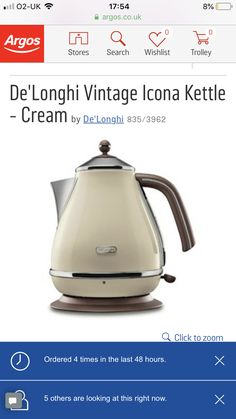 Argos, Kettle, Kitchen Appliances, Diy Kitchen Appliances, Teapot, Home Appliances, Argo