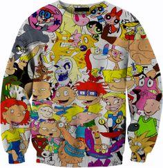 90's Vintage Nickelodeon Sweater Tshirt Crewneck by YeahWhateverz, $59.87