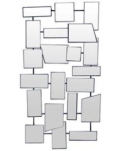 mirrordeco.com — Urban - Faceted Modern Mirror Wall Art H:82cm