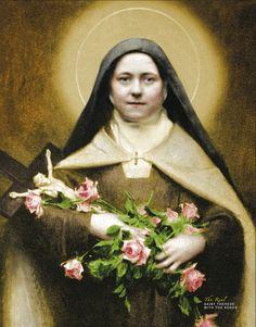Catholic Art, Catholic Saints, Religious Art, Sainte Therese De Lisieux, Ste Therese, St Rose Of Lima, Christian Mysticism, Holy Mary, St Francis