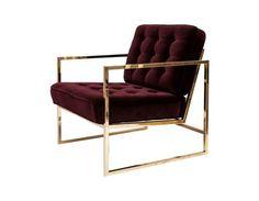 Fiona Chair Brass - Redwine - Ruth & Joanna