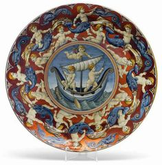 Large lustre charger by WILLIAM DE MORGAN - The Association of Art and Antique Dealers - LAPADA