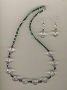 CHEAPLY PRICED. $13.75.  FREE NECKLACE WITH EVERY PURCHASE! Silver-Plated Glass Pearl / Glass Bead Earring and Necklace Set. https://www.etsy.com/ca/shop/JehovahJJewellery?ref=si_shop