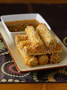 Sesame Tempeh Sticks with Apricot Dipping Sauce from Vegetarian Cooking at Home with The Culinary Institute of America by The Culinary Institute of America, Katherine Polenz