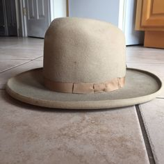 1b0b7ca7d73 VTG Antique Real Deal 1920 s 1930 s Cowboy Grey Felt Curled Wide Brim Hat  22