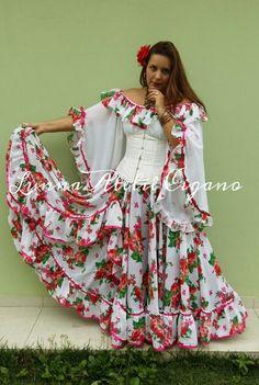 Traje cigano saia cigana floral gypsy skirt dança cigana gypsy dance floral skirt www.facebook.com/ateliecigano