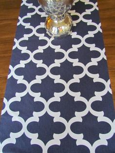 TABLE RUNNER 13 x 72 Navy Blue Table runners  by SayItWithPillows, $25.95