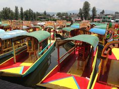 Trajineras Xochimilco en Xochimilco, Federal District
