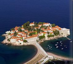 Aman Sveti Stefan in Montenegro (located on the Adriatic Coast of Eastern Europe).