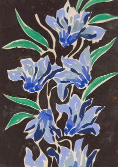 Georges Berthier designe for Bianchini Ferier 1930 Francoise Gilot, Art And Illustration, Botanical Art, Cartoon Drawings, Pattern Art, Art And Architecture, Art Floral, Art Inspo, Cool Art