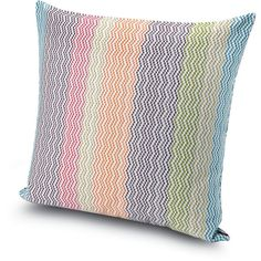 Missoni Home Sibuyan Cushion - 156 - 60x60cm (400 CAD) ❤ liked on Polyvore featuring home, home decor, throw pillows, multi, chevron home decor, multi color throw pillows, multi colored throw pillows, chevron throw pillows and colorful throw pillows