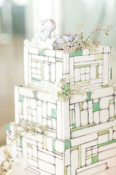 Tiered Wedding Cakes Decorated With Real Lavender