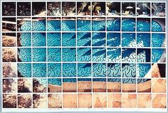 """Sun on the Pool Los Angeles, by David Hockney: British artist Hockney experimented with new ways of seeing, by piecing multiple viewpoints together using a Polaroid to create photocollages, which he called """"joiners"""". David Hockney Photography, Photo, Photo Collage, Photomontage, Photography, Painting, Art, Pop Art Movement, Art Movement"""