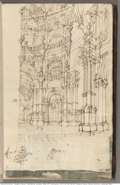 houghtonlib: Galli Bibiena, Giuseppe, 1696-1757. Sketchbook, 1735-1745. MS Typ 412 Houghton Library, Harvard University