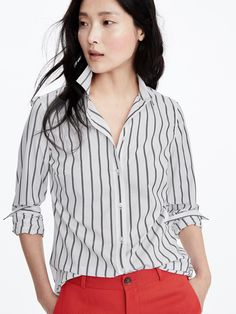 Riley fit striped shirt