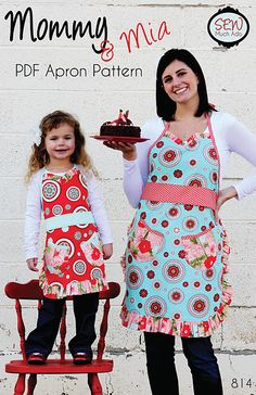 Sew Much Ado, $9 matching aprons pattern