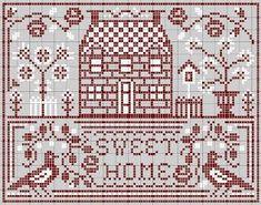 Schemi Punto Croce Gratis: ABITAZIONI, casa dolce casa