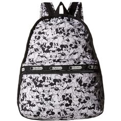 LeSportsac Basic Backpack (Mickey Loves Minnie) Backpack Bags ($118) ❤ liked on Polyvore featuring bags, backpacks, nylon pencil pouch, dot backpack, lesportsac, nylon backpack and strap backpack