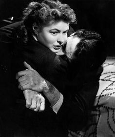 Ingrid Bergman and Gregory Peck in 'Spellbound'