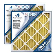 12x12x2 Pleated Air Filter Merv 11 - Highest Quality - 3 Pack - (Actual Size: 11.75 x 11.75 x 1.75)