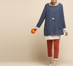 White Dot blau Beitritt zusammen Kleid lose Baumwolle Shirt Damen Top Baumwolle lange Kleid Frauen Bluse lose schöne Baumwolle Shirt Frauen ...