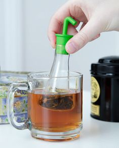 Beaker-shaped tea infuser. | 25 Clever Ways To Feed Your Inner Geek