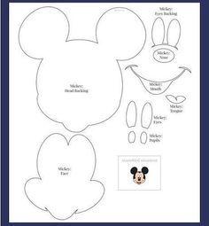 Meio Ligado: Moldes - Minnie e Mickey Mouse                              …