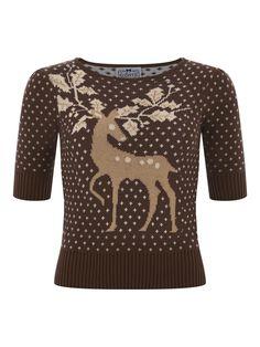 CollectIf Chrissie Deer Jumper [so cute! Wantsies]