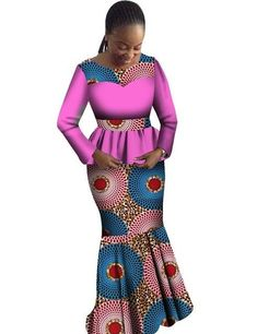 Africa Women Dashikis Two Pieces Top Skirt Custom African Dashiki Top Skirt Sets Wax African Women's Party Sets Unique Latest African Fashion Dresses, African Dresses For Women, African Print Dresses, African Attire, African Women, African Beauty, African American Fashion, African Print Fashion, African Style