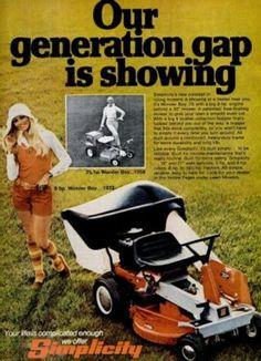 Simplicity Mower 'Wonder Boy.' ('Popular Science' magazine, Apr. 1973) Retro Advertising, Retro Ads, Vintage Advertisements, Simplicity Tractors, Science Magazine, Wonder Boys, Compact Tractors, Lawn Equipment, Cool Technology