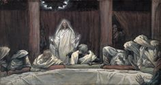 He Appeared to the Eleven by James Tissot {c.1886-94} ~ Jesus after His Resurrection