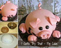 adorable Pig Cake #food #cake