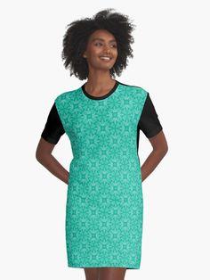 """Mint Leaf #1"" Graphic T-Shirt Dress by Kettukas | Redbubble Leather Texture, Graphic Shirts, Leggings Fashion, Chiffon Tops, Textile Design, Designer Dresses, Cold Shoulder Dress, Street Wear, Shirt Dress"