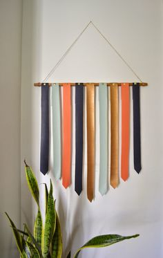 designPOST interiors DIY leather wall hanging