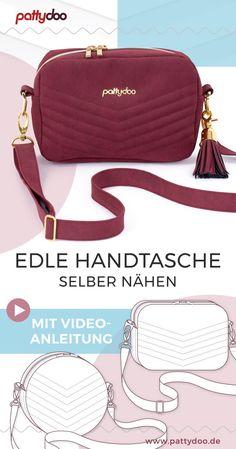 "Sewing Pattern Handbag ""Adora""- Schnittmuster Handtasche ""Adora"" With the p. Sewing Pattern Handbag ""Adora""- Schnittmuster Handtasche ""Adora"" With the pattern ""Adora"" you sew elegant handbag in a mo Diy Bags Patterns, Handbag Patterns, Bag Sewing Pattern, Sewing Patterns, Diy Bags Purses, Purses And Handbags, Diy Handbag, Diy Sewing Projects, Patchwork Bags"