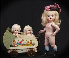"""8""""  All Bisque Doll #2 Wrestler / Last One / by Branka Schärli!!!"""