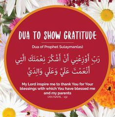 Dua to show gratitude. Dua of Prophet Sulayman a. Duaa Islam, Islam Hadith, Allah Islam, Islam Muslim, Islam Quran, Alhamdulillah, Islamic Prayer, Islamic Teachings, Islamic Dua