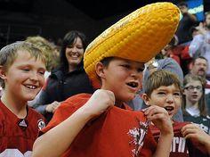 University of Nebraska – Lincoln Cornhuskers - fan with ear of corn husker 's hat