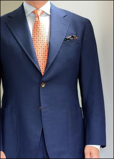 The Business Of Summer. A casual suit in 8oz mohair for those...