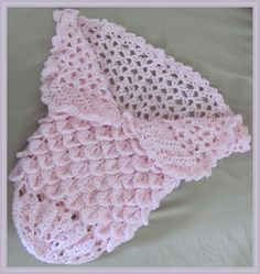 Sweet Princess Cocoon-ghan Crochet Pattern - FREE! (Uses Crocodile Stitch) - Crochet Me