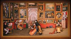 """Samuel F. Morse's painting """"Gallery of the Louvre."""" Photo courtesy the Festival of Arts Irvine Bowl - Welcome to Pageant of the Masters, 90 minutes of tableaux vivants (literally, """"living pictures""""). Tableaux Vivants, Masterpiece Theater, Painting Gallery, Laguna Beach, Upcoming Events, That Way, Pageant, Art History, Louvre"""