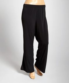Look what I found on #zulily! Black Flare Pants - Plus #zulilyfinds